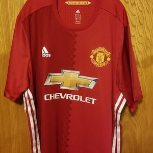 Adidas authentic Manchester United jersey XL